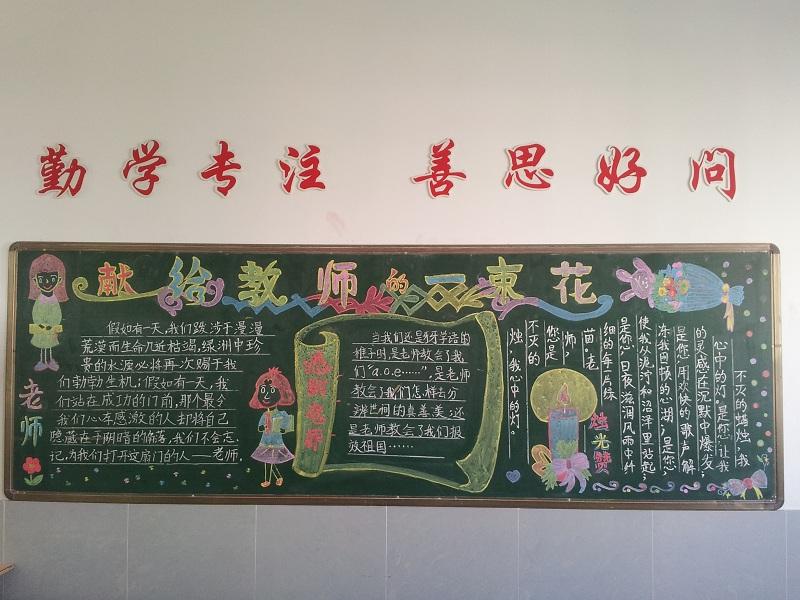 教师节黑板报图片大全7